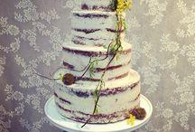 Semi naked wedding cakes