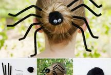 Halloween Hair Inspiration / Here are some halloween-hair creations to give you some festive inspiration!