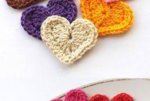 Ganchillo corazones crochet