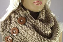 Шарф, снуд. Snood and Scarf. Knitting and Crochet.