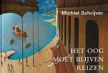 Michiel Schrijver / Schilderijen als een oneindige reis door een surrealistische en fantasievolle wereld.  Een buitengewoon origineel en perfectionistisch schilder die ons betovert met surrealistische werelden vol fascinerende en vervreemdende architectuur, waartussen de mens zich op zonderlinge wijze verpoost.