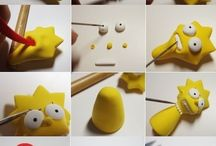 cartoons and animals polymer clay