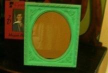 Frames and Mirrors - Lori Hilker Designs / Vinyl on upcycled frames and mirrors. / by Lori Hilker