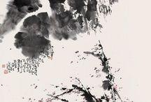 Peinture encre noire