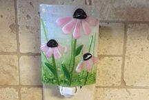 glaskunst blomster/natur