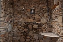 bathroom / Stone and exposed wood - scandinavian zen spa...