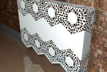 Lace Radiator Covers / Simple - no loss of heat. Fantastic looks!