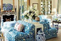 Delft blue in interior