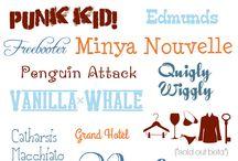 Typeface, lettering, fonts etc