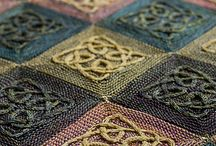 knitted throws, afghans, quilts