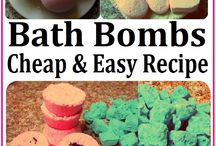 Bath Bombs and Bath Salts