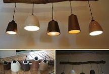 lamp en hout