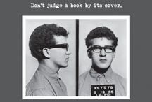 Mug Shot Greeting Cards / Greeting cards inspired by vintage American mug shots. Modeled on actual police reports, the back of each card presents a bio and crime details of the unsuspecting offender.