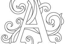 litery ozdobne