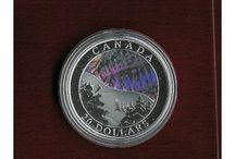Monedas Plata Coloreada