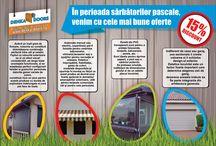 Promotii! / In perioada 02.04-17.04.2015 va oferim un discount de 15% petru rulouri exterioare aluminiu, copertine, pereti de vant si usi de garaj !