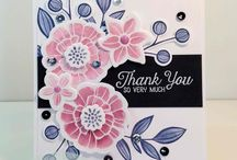 falling flowers stampin up