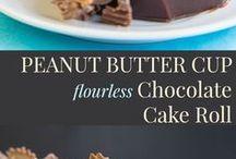 rotolo e torta con pasta biscotto