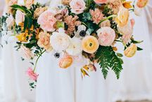 Bouquet: soft yellow and peach