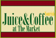 Juice and Coffee Break / Only at The Market at Liberty Place... Owned by local resident and former Delaware restaurateur, nutritionist, and educator, Francine Covelli, Nourish will focus on providing the Kennett Square community with healthy, local, and organic treats.