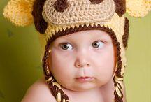 Crocheted critter Hats / by Trisha Salerno