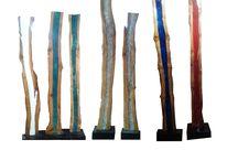 lampara led / lampara led de madera antigua y resina de colores. Diseño, producción y fabricación exclusiva y ecológica por www.comprarenbali.com