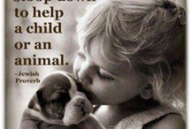 Children and Animals / I love children and I also love animals, so there is nothing better than children and animals together / by Carolyn Katsilas