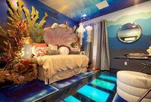 room decoration, beach/ under the sea theme