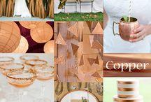 Wedding theme copper