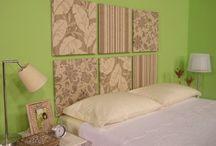 parede da cabeceira de cama