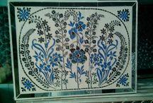 thikra glass art / home decore in art work,