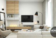 Przytulne i jasne mieszkanie / Przytulne i jasne mieszkanie, w którym ciepła dodają wykorzystane kolory brązu i beżu wzbogacające dominujący kolor bieli. Uwagę przykuwają także drobne, czarne akcenty idealnie kontrastujące z jasnymi barwami.  Po więcej inspiracji zapraszamy na naszą stronę: http://monostudio.pl/portfolio_item/przytulne-jasne-mieszkanie-tarasach-wislanych/ oraz na Facebooka