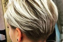 woman haircut short
