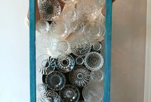 recycled window and dishware