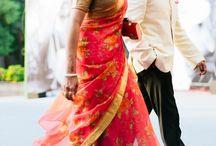 beautiful flower printed saree