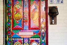 ζωγραφική σε πόρτα