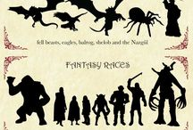 Fantasy Infographics / Cool ways to gather information on #fantasy, #faeries, #elves, #mystical