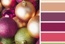 Christmas colour palette