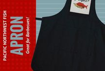 Aprons / Pacific Northwest themed aprons. Designed and made in Canada.