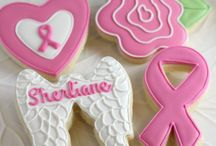 Decorated Cancer Awareness Cookies / by Rosalie Romero