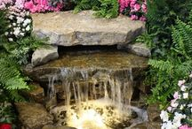 Waterfall feature garden