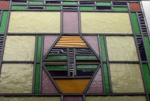 Glas in lood ramen / Oud raam gerestaureerd