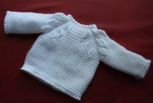 Chaquetitas lana / Chaquetitas de punto para bebé hechas a mano en lana para vestir elegante al recién nacido