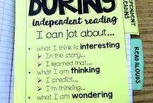 Readers notebook ideas