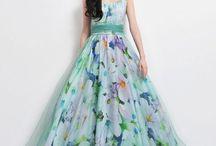 long flaweral dress