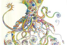 Octopus, squid and tentacles