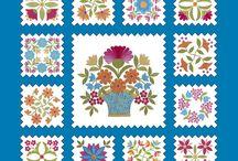 WIP: Folk art quilt / by Nancy Arseneault