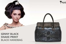 Marla Fiji - Top Model - Italian leather bag / The serpent is the most divisive , It is a symbol of power and beauty , elegant in its colied form... Ginny python printed black Italian leather handbag ...Let Ginny be your symbol of power and beauty !!