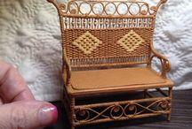 pletení z papíru - nábyteček