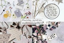 #sunday_sundries and/or #stilllifeisreallife features on Instagram / Featuring artists from the #sunday_sundries and or #stilllifeisreallife gallery on Instagram.